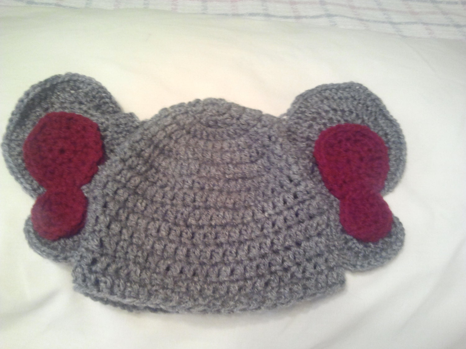 Crochet Pattern For Baby Elephant Hat : Crochet baby Alabama elephant hat toddler by ...