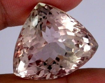 HUGE 47ct one of a kind Peach Natural Kunzite