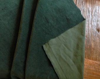 FAT QUARTER (50X60CMS) Bottle Green Coloured Cotton Curtain Velvet by Truly Sumptuous 330 gsm, 120 cms Wide