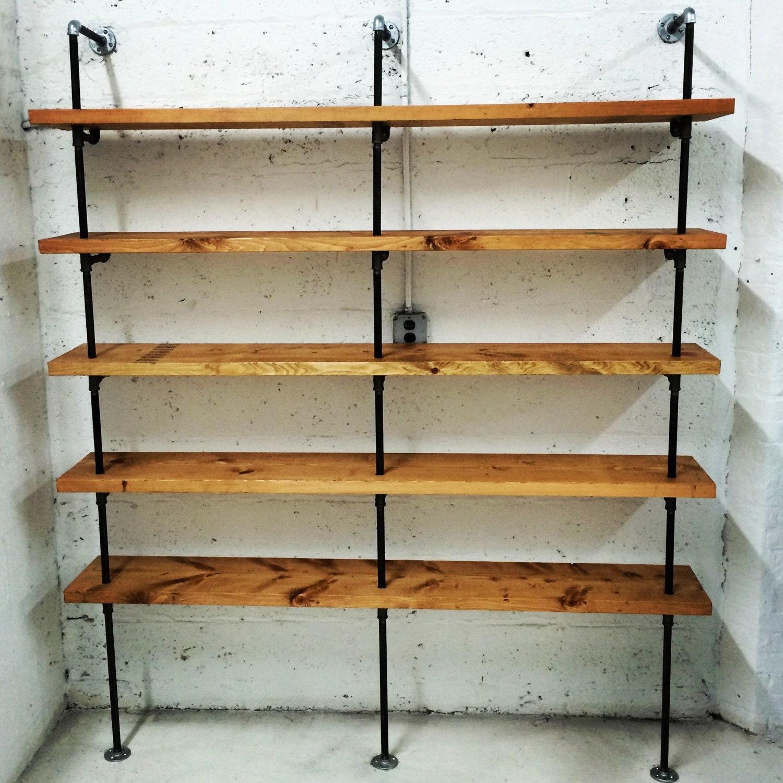 Black steel pipe shelves
