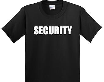 Children's SECURITY T Shirt Kids Boys Girls young helper Tee