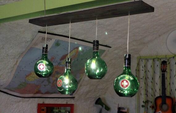 lampadari riciclati : ... di liquore e pallet riciclati. Illuminazione diffusa. su Etsy