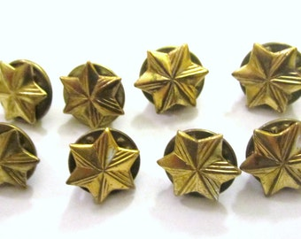 Set of Eight (8) Vintage Girl Scout Membership Stars circa 1950's