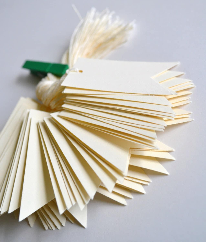 cream bulk hang tags with string, bulk cream price tags, bulk ...