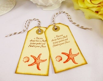 Coral Welcome Wedding Favor Tag/Welcome Bag Gift Tag/Beach Wedding/Thank You Tag/Bridal Shower Tag/Gift Tag/Destination Wedding Favor Tags
