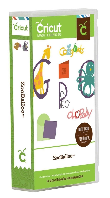 Free Shipping ZooBaloo Cricut Cartridge By HopeCustomCreations