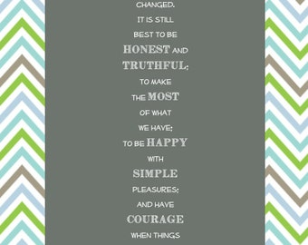 Laura Ingalls Wilder quote Wall Art