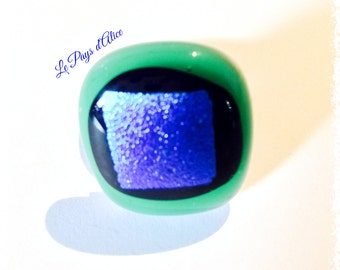 Dichroic fusing glass ring