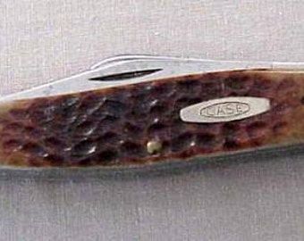 Vintage CASE XX USA 6375 Stockman Red Bone 3 Blades Knife 1990 No Dots New