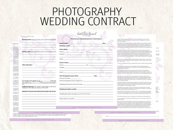 wedding pography contract form. Black Bedroom Furniture Sets. Home Design Ideas