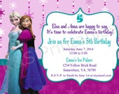 Elsa and Anna Frozen Birthday Party Invitation