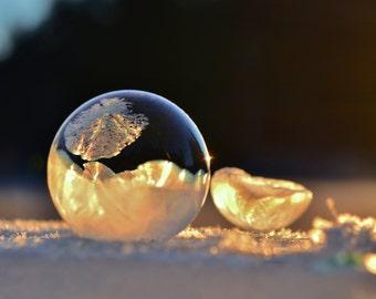 8x10 Frozen Bubble at Sunrise