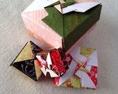 4 nesting origami boxes