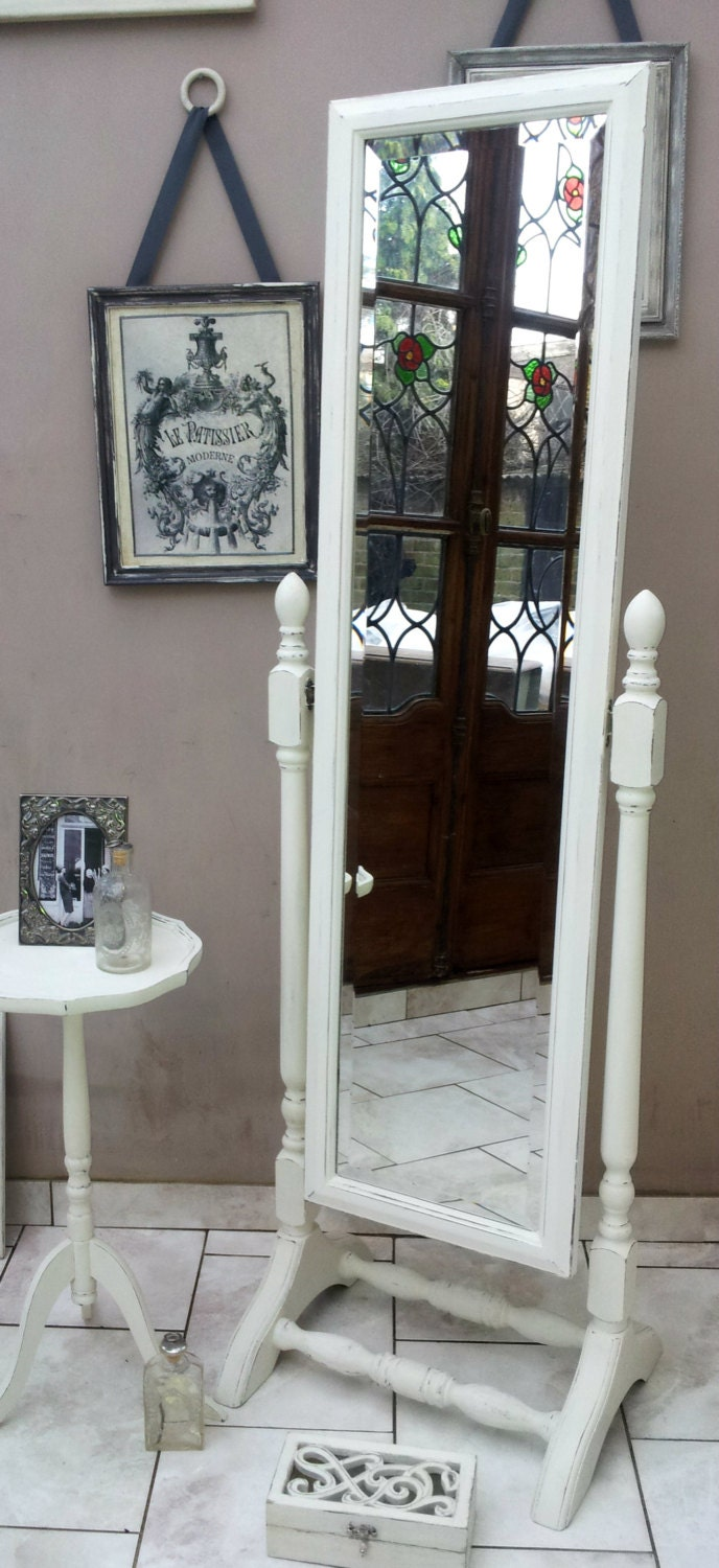 cheval floor standing mirror shabby chic. Black Bedroom Furniture Sets. Home Design Ideas