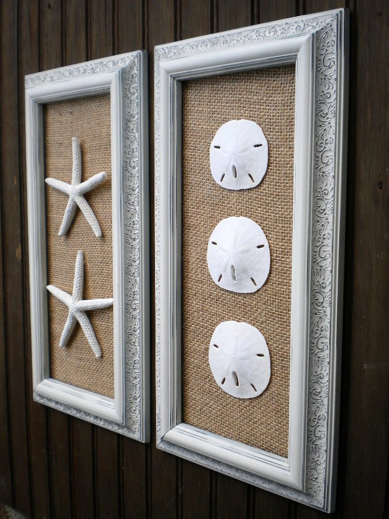 coastal decor cottage chic framed starfish wall art dorm