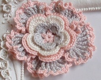 Crochet flower applique CH-029-05