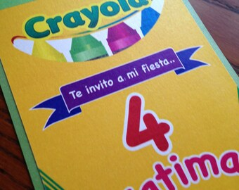 Crayola Birthday Party Invitation - Crayon Invite