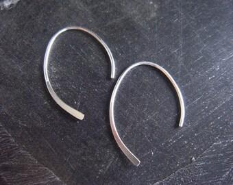 Sterling Silver Threader Earrings Minimalist Jewelry Modern Jewelry
