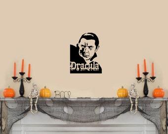 "Dracula Halloween Wall Decal- (8""w x 11""h)"