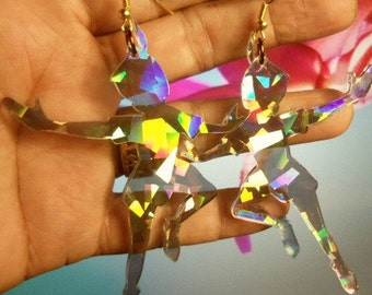 peter pan earrings,laser cut jewelry,laser cut,holographic necklace,Peter Pan necklaces