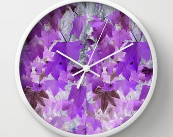 clock wall clocks purple violet mauve light and dark lilac design designs abstract modern gift gifts france french photograph photography