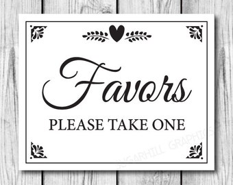 Printable Wedding Sign Favors Decor Signage