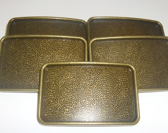 5 Belt Buckle Blanks - Antique Brass