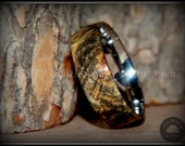 """Bentwood Ring - """"Ohio"""" Buckeye Burl Ring Surgical Grade Stainless Steel Comfort Fit Metal Core"""