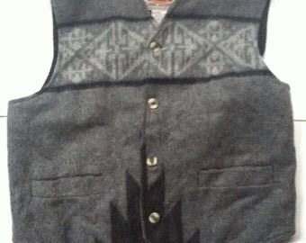 Vintage Retro Patterned Vest