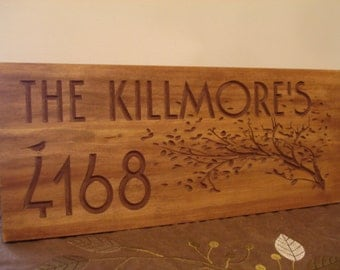 Outdoor Wood Sign, Mothers Day Gift, Rustic Wood Sign, Carved Wood Sign, Address Plaque, Address Sign, Personalized Sign Benchmark Signs