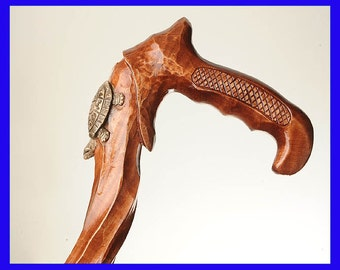 Perfect Hand Carved Wooden Cane Walking Stick (BEST of the BEST)