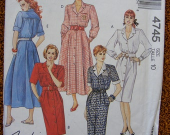 Misses' Dress McCall's Sewing Pattern 4745 Size 10