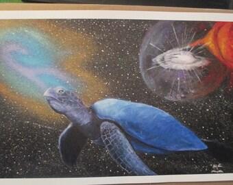 Cosmic Space Turtle (Print)
