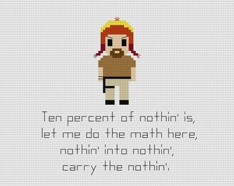 Firefly Jayne Cobb Quote Cross Stitch Pattern