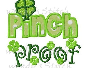 St Patrick's Day applique pinch proof machine embroidery design
