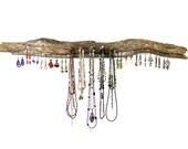 Rustic Driftwood Jewelry Organizer, Earring Tree, Earring Hanger, Necklace Hanger, Jewelry Rack, Jewelry Display, Earring Display, Beachy