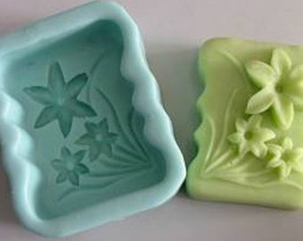 Oblong flower Soap Mold Silicone Mould Handmade Soap tool Candle mold Cake Fimo Resin Crafts