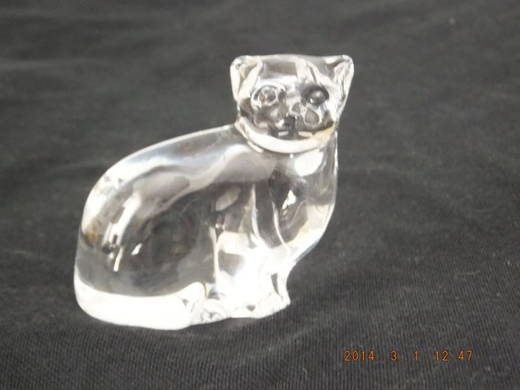 Villeroy and boch crystal glass cat by kittyccache on etsy for Villeroy boch crystal
