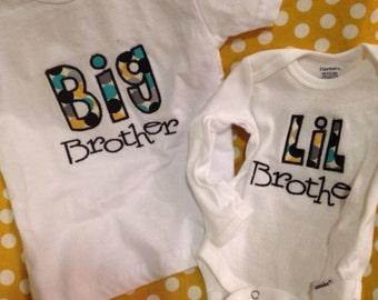 Big brother little brother shirt set
