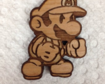 Super Mario Brothers Mario Wood Hat Pin