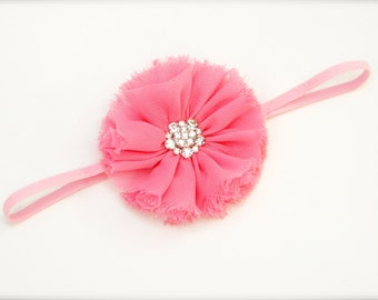 Flower headband - Peachy pink