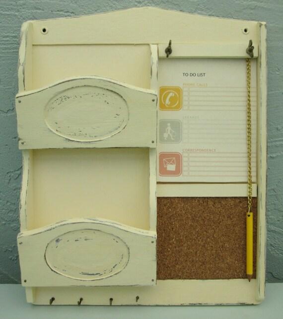Memo cork bulletin board letter holder key holder for Bulletin board organizer