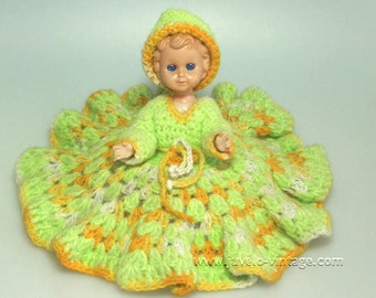 Vintage 40s Marked Celluloid Doll Italy Closing Eyes