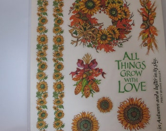 Colorful Sunflower Stickers for Scrapbooking Card making
