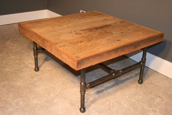 Reclaimed urban wooden coffee table made by for Coffee table urban