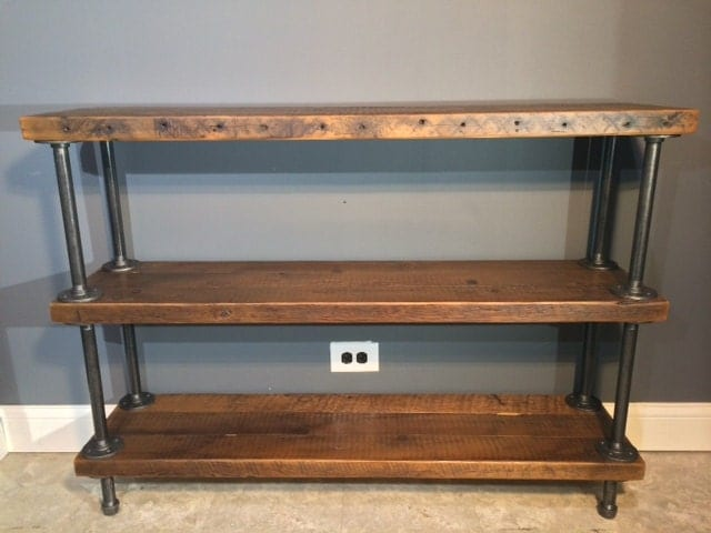 Reclaimed Wood Shelf/Shelving Unit with 3 by ...