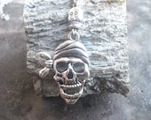 CIJ Sale,gifts for him  Pirate Skull necklace man's, Skull small.
