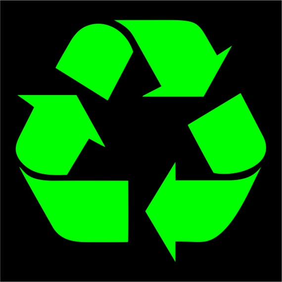 Recycle Logo Vinyl Decal Sticker Work Or Home Renew And Reuse