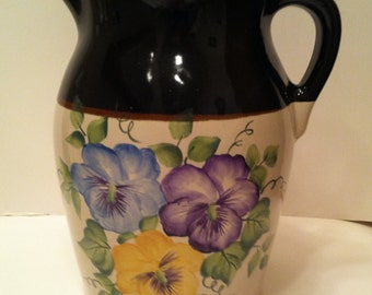 Robinson Ransbottom Handpainted 2 Quart Pitcher Artist Signed
