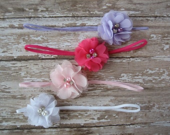 Dainty headbands / headband set / Baby shower gift / Headband package / Newborn photo prop / Baby headband / Girls headband